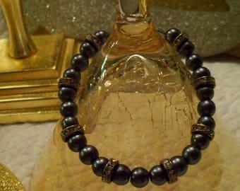 Little Black Boho Bracelet