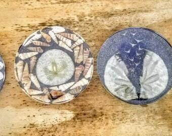 4 Handmade Resin Coasters