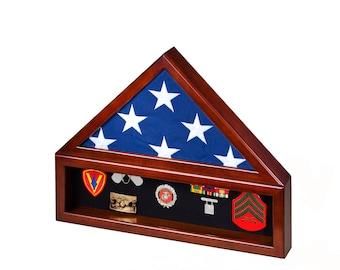 Memorial Size (5'x9.5') Combination Flag Display Case w/ No Base
