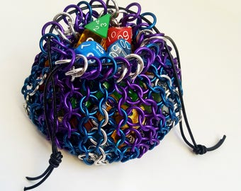 "Chainmaille Dice Bag - ""Magic Missile"""