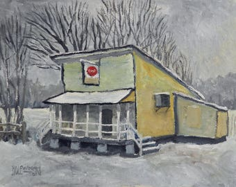 Country Store in the Snow