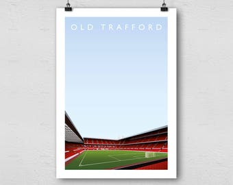 Manchester United Old Trafford A3 Poster