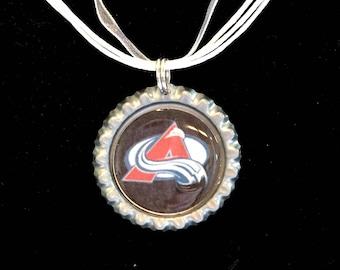 Colorado AVALANCHE Handcrafted Hockey Necklace