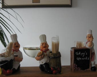 Chef Themed Toothpick Holders 3 Designs Available