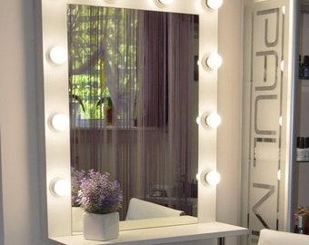 Hollywood mirror Mirror with lights Large vanity mirror Bathroom mirrors Bathroom cabinet Makeup vanity mirror Mirror hallway Large mirror