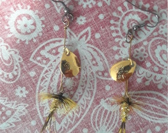Fly Fishing earrings (pair)