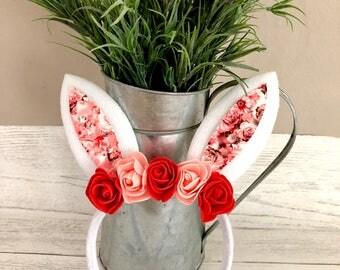 Beautiful Hadmade Bunny Ears flower crown headband