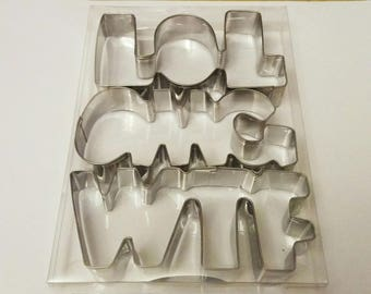 Funny words Cookie Cutters Fondant Biscuit Candy Baking Mold