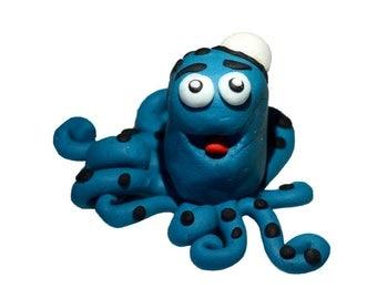 Handmade polymer clay octopus Henry
