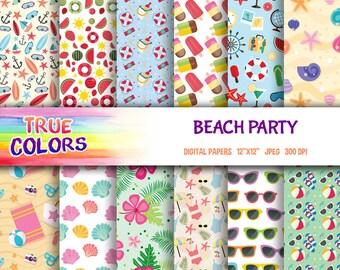 Beach Party, Summer - Digital Paper