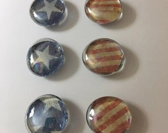 Americana Glass gem magnets
