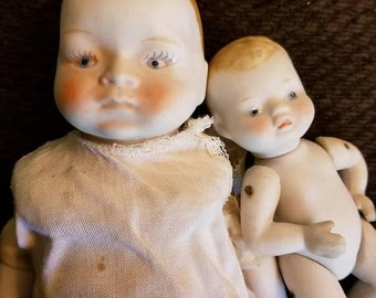 Two Bisque Japan Dolls