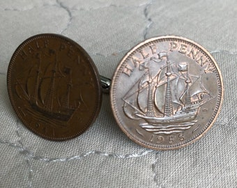 United Kingdom Half Penny Cufflinks