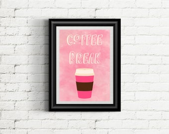 Coffee Break 8x10 digital print