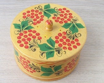 Vintage USSR wooden box - 1970s