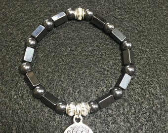 Hematite & Sterling Silver Bracelet