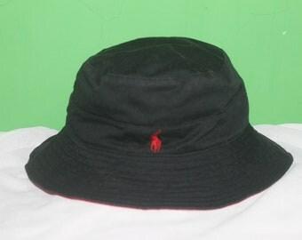 Vintage 90s Polo Golf Ralph Lauren Pony 2 Tone Bucket Hat