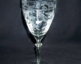 Libbey Rock Sharpe Cut Crystal Pattern #2011-2 Water Goblet