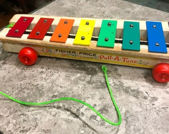 Vintage Fisher Price Pull A Tune 1964