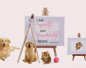 I am fearfully and wonderfully made, Psalm 139:14, bible verses for christian homes or office wall decor, digital art print, christian gifts