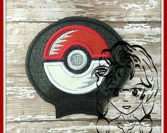 PoKE BaLL GaME Ear (Add On ~ 1 Pc) Mr Miss Mouse Ears Headband ~ In the Hoop ~ Downloadable DiGiTaL Machine Embroidery Design by Carrie