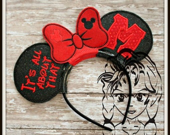 "All ABoUT THaT ""M"" Mr Mouse Inspired (3 Piece) Mr Miss Mouse Ears Headband ~ In the Hoop ~ Downloadable DiGiTaL Machine Emb Design by Carrie"