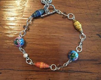 My World Beaded Bracelet