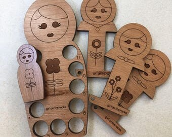Russian nesting doll sewing notion set