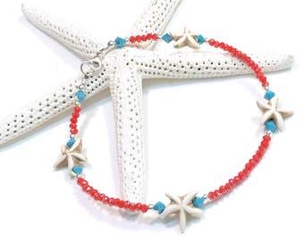 Starfish Ankle Bracelet -Starfish Anklet - Starfish Jewelry - Coastal - Beach Wedding