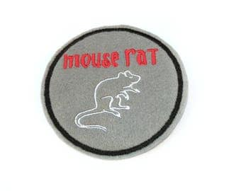 Mouse Rat Parks and Recreation embroidered iron on patch