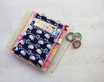 Cute planner pouch - Sloth - Sloth print purse - Blue pencil pouch - planner accessories case - washi tape holder - planner sticker pouch