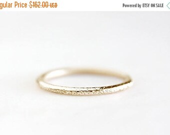 ON SALE stardust 14k gold wedding ring, solid recycled gold band, eco friendly, yellow gold, rose gold, white gold, handmade, recycled weddi