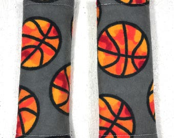 Basketball - Baby Seat Belt Covers -  Carseat Accessory - Sports- Baby Boy- Baby Girl - Strap Covers - Handmade - Stroller Straps