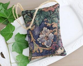 Botanical Tapestry Lavender Sachet, Gift for Gardener