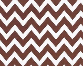 ON SALE - 10% Off Robert Kaufman Remix Zig Zag Brown Chevron Quilting Apparel Fabric BTY