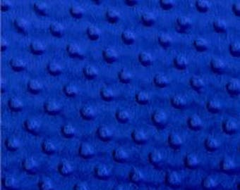 REMNANT PIECE - Top Quality Plush Royal Blue Minky Dimple Dot Fabric