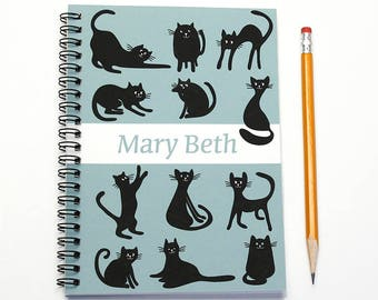 18 month custom planner, Start any month, 2017 2018 2019 personalized weekly planner for cat lover, 18 month academic planner, SKU: epi cat