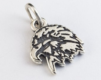 14mm Sterling Silver Eagle Head Charm #BSO041