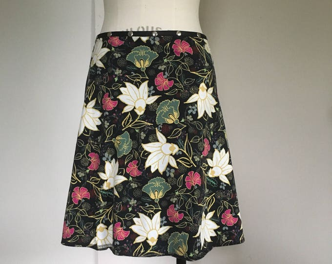 "Snap Around Skirt ""Flora Petal""  FREE SHIPPING"