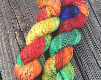 After The Storm - 75/25 SW Merino, Nylon - Sock Yarn - Fingering Yarn - Kettle Dyed Yarn - Lagniappe Sock - Dyed To Order