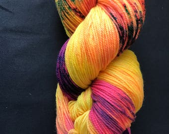 Sunspots hand dyed fingering weight yarn