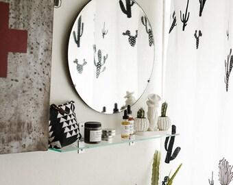 Shower Curtain-Cactus Print