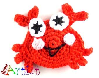 Crochet Applique Crab