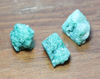 Green Quartz Druzy Nugget Beads Raw Gemstone Crystal Green Stone Big Beads Jewelry Making Supplies