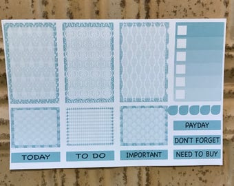 Full Boxes Half Boxes Ombre Checklist Icons Headers Planner Stickers