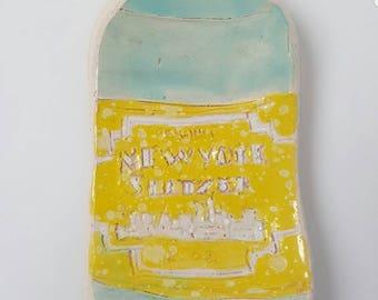 New York Seltzer Ceramic Ring Tray
