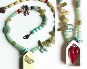 Hidden Heart Beaded Necklace