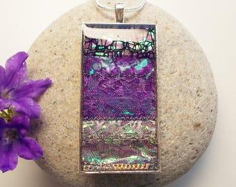 Deep Purple Pendant Necklace