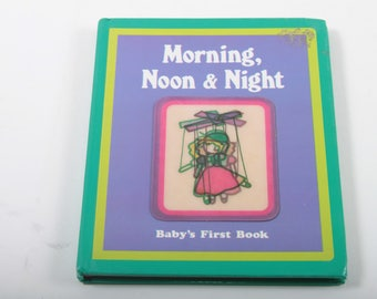 Morning, Noon and Night, Baby, First Book, Vintage, Bedtime Story, Nursery, Illustrations, Pictures, Baby Book ~ The Pink Room ~ 170328