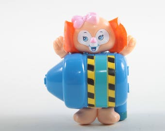 Sweet Secrets, Stationery Charms, Clown, Blue Pencil, Pink Bow, Orange Hair, Vintage, Toy, Galoob, Small, Plastic ~ The Pink Room ~ SS004